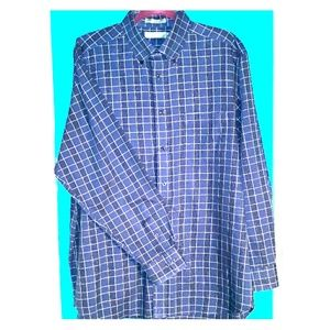 Mens Long Sleeved Cotton Button Down Shirt
